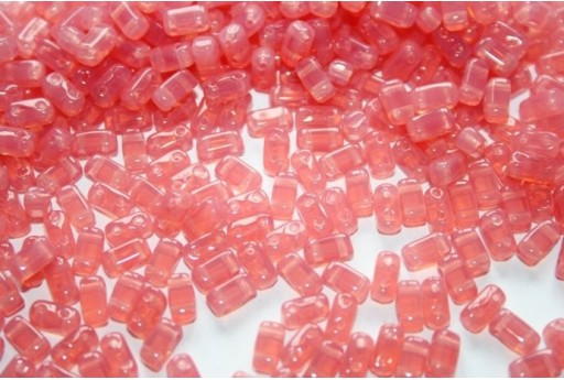 Bricks Beads Milky Pink 3x6mm - 50pz