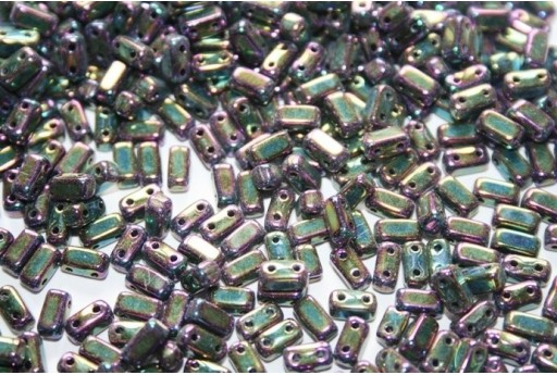Bricks Beads Iris-Purple 3x6mm - 50pz