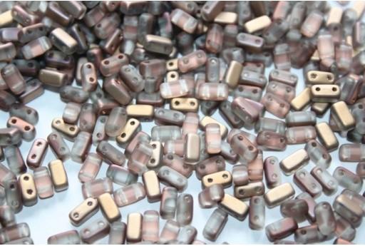 Perline Bricks CzechMates 3x6mm, 50Pz., Matte-Apollo Gold Col.MC00030
