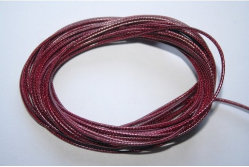 Bordeaux Waxed Polyester Cord 1mm - 12m MIN125P