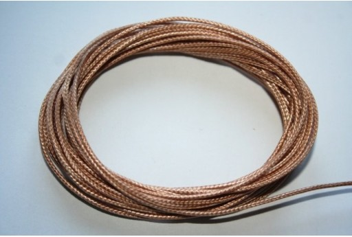 Bronze Waxed Polyester Cord 1mm - 12m MIN125Q