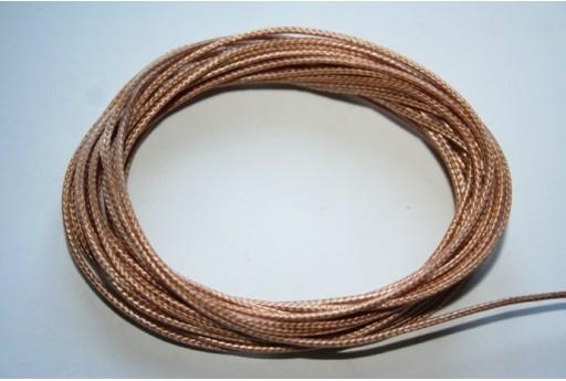 Filo Poliestere Cerato Bronzo 1mm, 12mt., MIN125Q