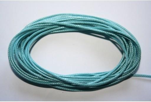 Aquamarine Waxed Polyester Cord 1mm - 12m MIN125R