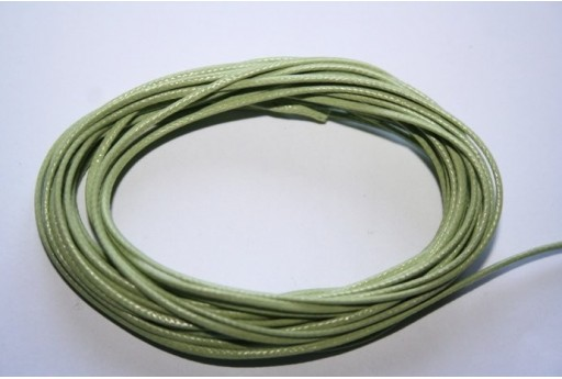 Light Green Waxed Polyester Cord 1mm - 12m MIN125S