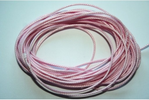 Pink Waxed Polyester Cord 1mm - 12m MIN125V