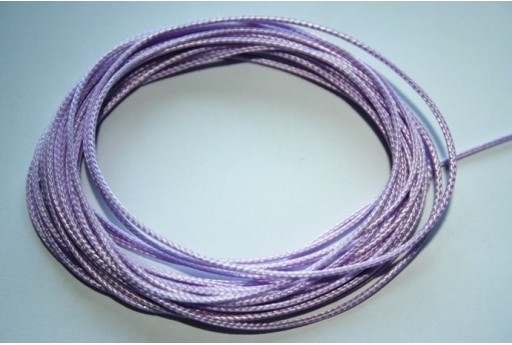 Lilac Waxed Polyester Cord 1mm - 12m MIN125Z