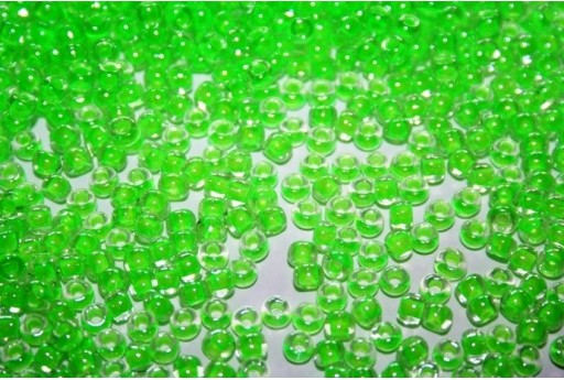 Perline Toho Round Rocailles 6/0, 10gr., Luminous Neon Green Col.805
