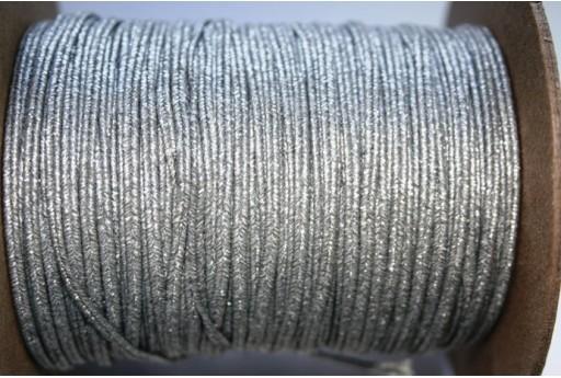 Cordoncino Soutache Metallic Matte Silver 3mm - 5mt