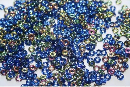 Perline O Bead 1x3,8mm, 5gr, Vitrail Sapphire Col.2430050
