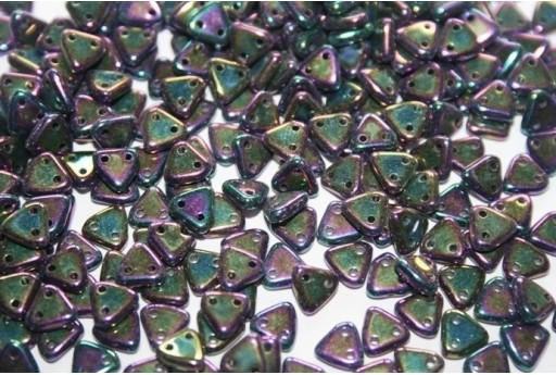 Triangle Beads Iris-Purple 6mm - 8gr