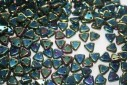 Triangle Beads Iris-Green 6mm - 8gr