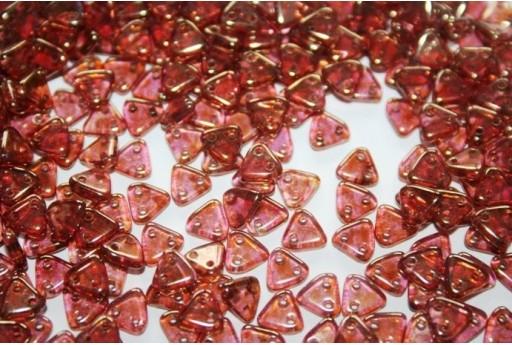 Perline CzechMates Triangle 6mm, 8gr., Luster Rose/Gold Topaz Col.AK00030
