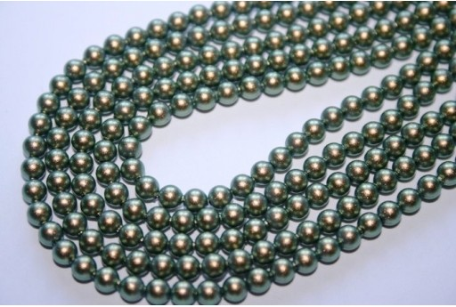 Perle Swarovski 5810 Iridescent Green 4mm - 20pz