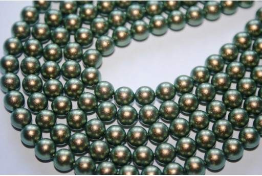 Swarovski Pearls Iridescent Green 5810 8mm - 8pcs