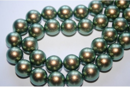 Perle Swarovski Iridescent Green 5810 10mm - 4pz