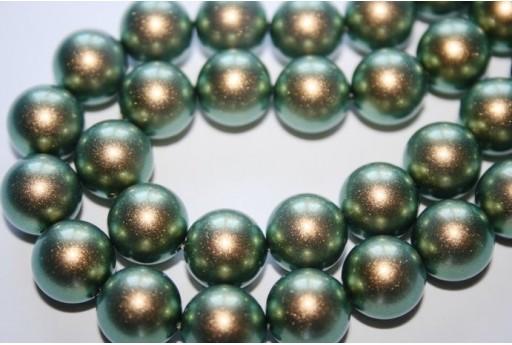 Perle Swarovski Iridescent Green 5810 12mm - 2pz