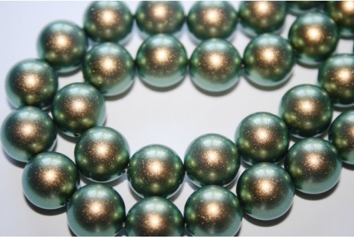 Perle Swarovski 5810 Iridescent Green 12mm - 2pz