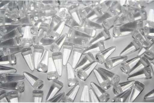 Perline Spikes 4x10mm, 30pz., Crystal Col.00030
