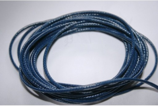 Blue Navy Waxed Polyester Cord 1,5mm - 12m MIN132A