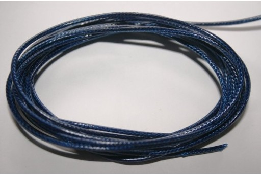 Blue Waxed Polyester Cord 1,5mm - 12m