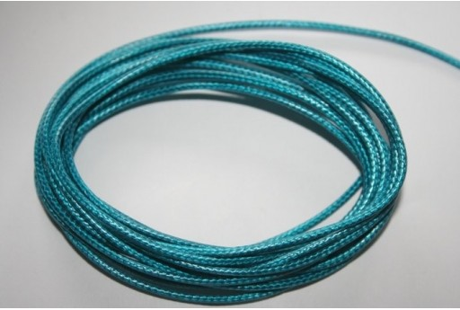 Turquoise Waxed Polyester Cord 1,5mm - 12m MIN132C