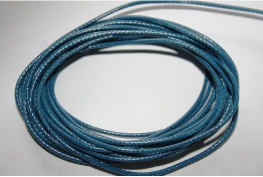 Blue Waxed Polyester Cord 1,5mm - 12m MIN132D
