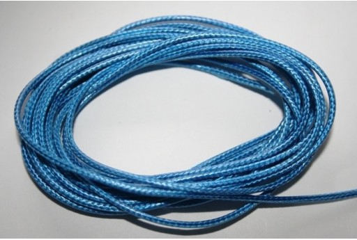 Light Blue Waxed Polyester Cord 1,5mm - 12m MIN132F