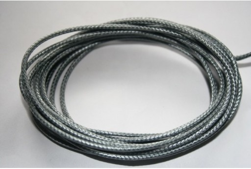 Grey Waxed Polyester Cord 1,5mm - 12m MIN132H