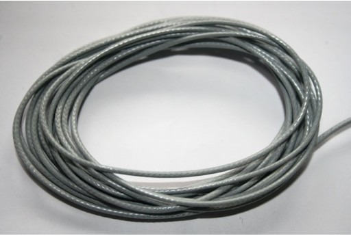 Grey Waxed Polyester Cord 1,5mm - 12m MIN132L