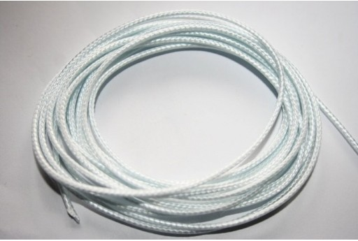 Ice White Waxed Polyester Cord 1,5mm - 12m MIN132M