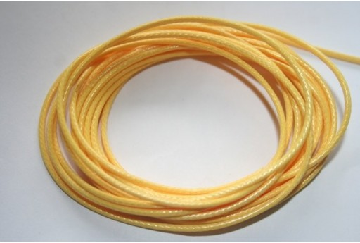 Yellow Waxed Polyester Cord 1,5mm - 12m MIN132P
