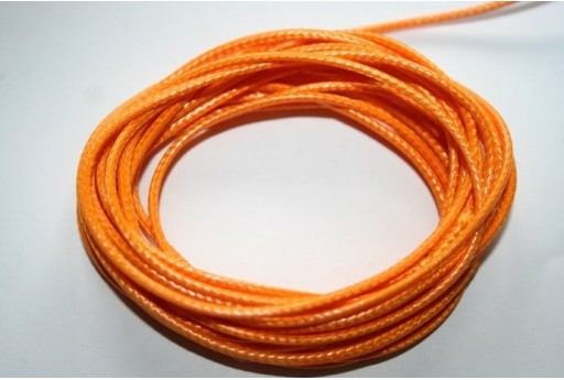 Orange Waxed Polyester Cord 1,5mm - 12m MIN132Q