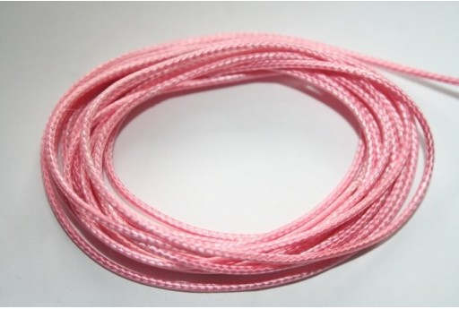 Pink Waxed Polyester Cord 1,5mm - 12m MIN132S
