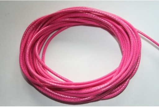 Pink Waxed Polyester Cord 1,5mm - 12m MIN132T