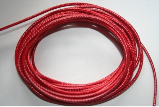 Red Waxed Polyester Cord 1,5mm - 12m MIN132Z