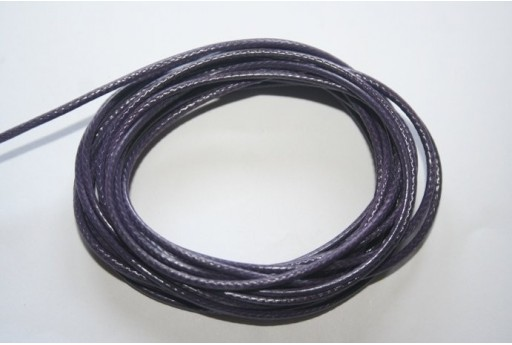 Purple Waxed Polyester Cord 1,5mm - 12m MIN132J