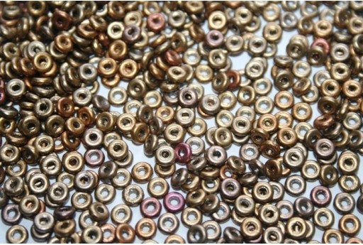 Perline O Bead 1x3,8mm, 5gr, Metallic Mix Col.01610