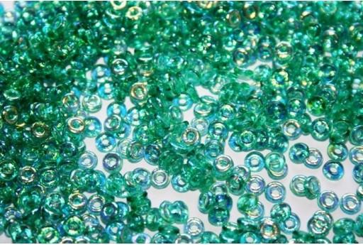 Perline O Beads Emerald AB 1x3,8mm - 5gr