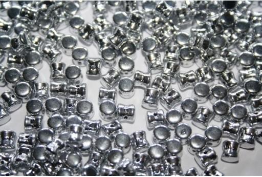 Pellet Beads 4x6mm, 50Pz., Silver