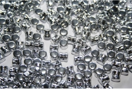 Perline Pellet 4x6mm, 50Pz., Silver