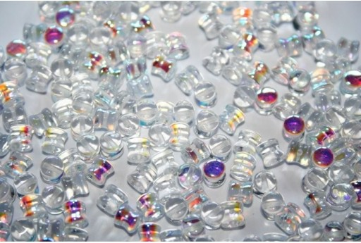 Pellet Beads 4x6mm, 50Pz., Crystal AB