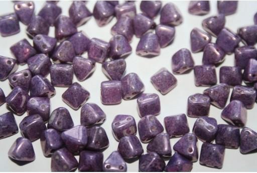 Pyramid Beads 6x6mm, 20Pz., Lila Vega Luster Col.15726