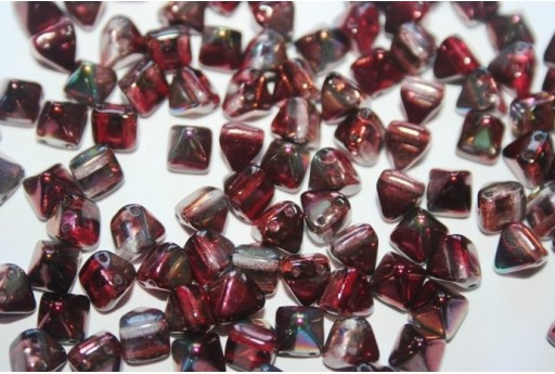 Pyramid Beads 6x6mm, 20Pz., Magic Wine Col.95200