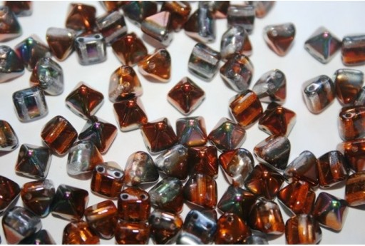 Perline Pyramid 6x6mm, 20Pz., Magic Copper Col.95300