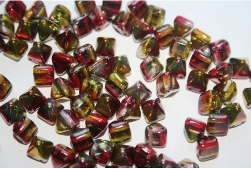 Pyramid Beads 6x6mm, 20Pz., Magic Apple Col.95600