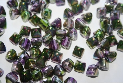 Perline Pyramid 6x6mm, 20Pz., Magic Orchid Col.95000