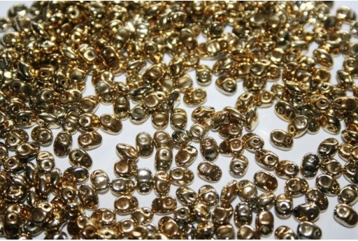 Perline SuperUno 2.5x5mm, 10gr., Full Amber Col.26440