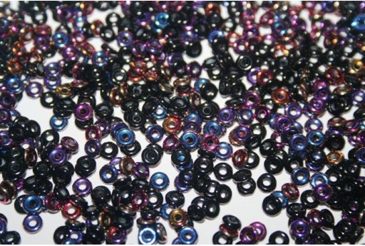 Perline O Bead 1x3,8mm, 5gr, Jet Sliperit Col.29500