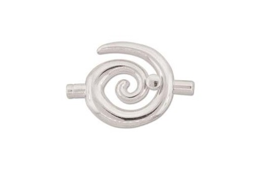 Silver Plated Swirl Toggle Clasp 50x34mm
