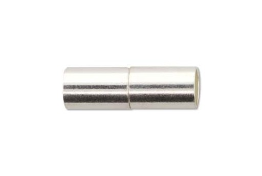 Silver Plated Magnetic Clasp 22x7mm MIN136B